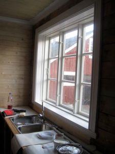 Det nya fönstret är helt fantastiskt. Gör hela rummet.